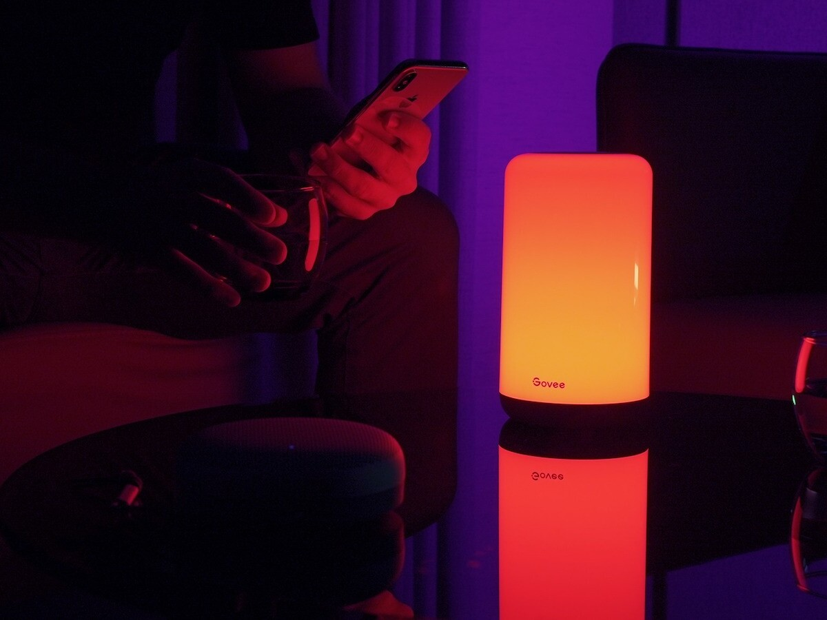 Govee Aura smart table lamp has over 37 lighting effects that set the mood in any room
