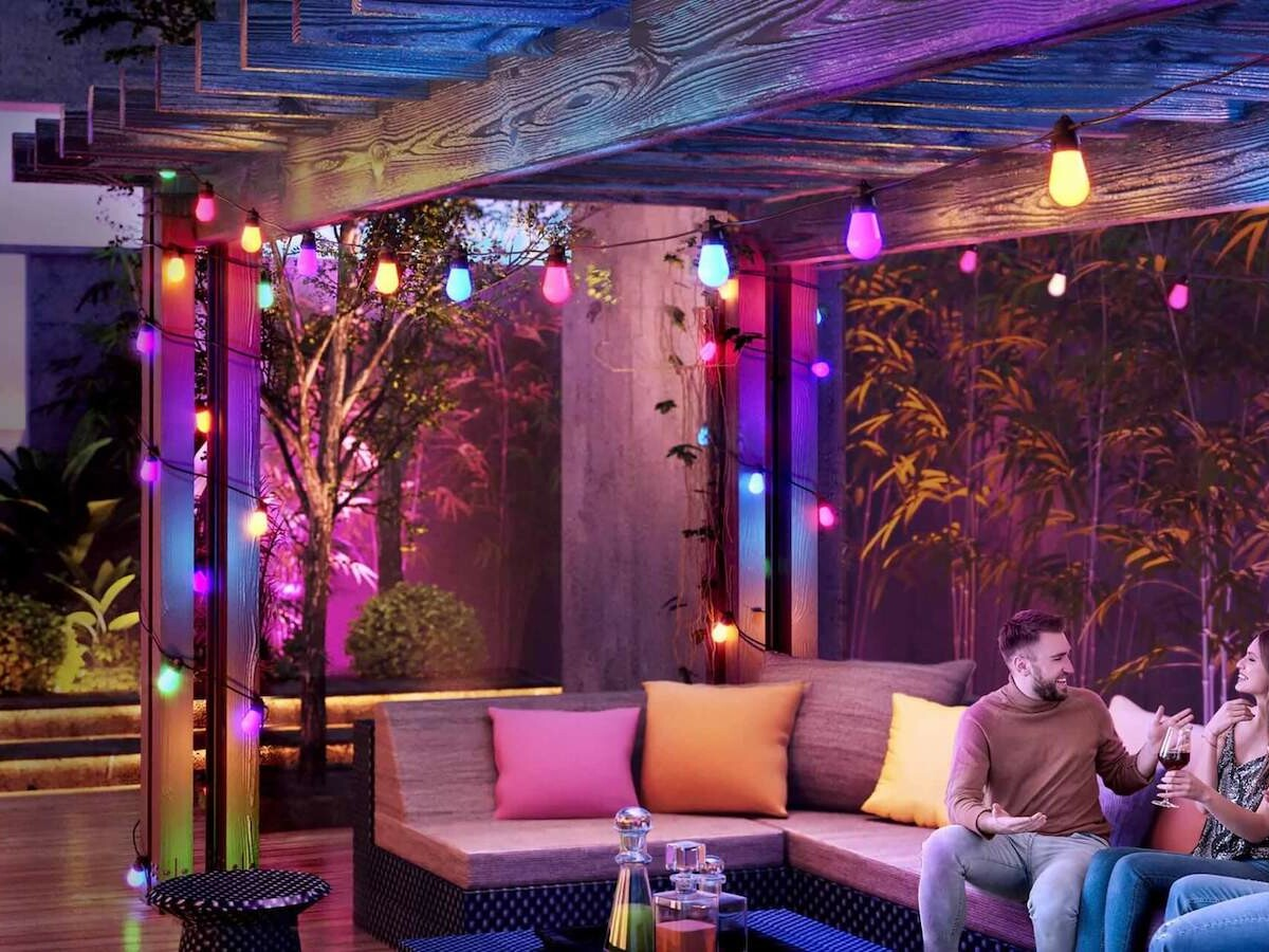 Govee RGBW Bluetooth Bulb String Lights comes with eight lively scene modes