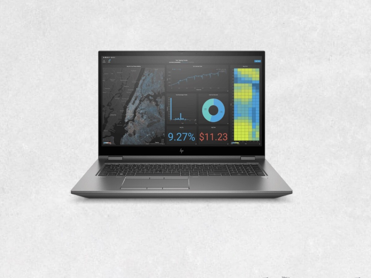 HP ZBook Fury 17 G8 professional laptop has the newest Intel CPUs and NVIDIA or AMD GPUs