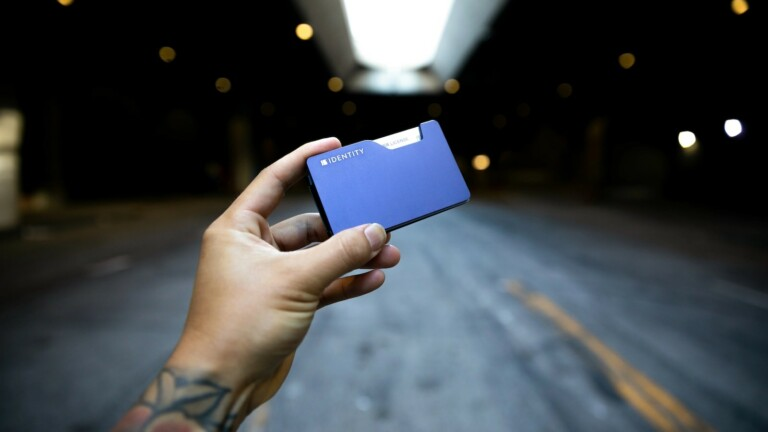 IDENTITY WALLET slim metal cardholder comes with a money clip or strap & blocks RFID