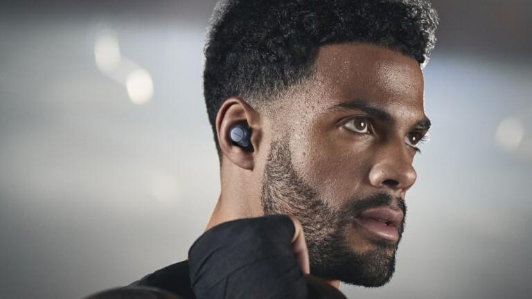 Jabra Elite 7 Active true wireless workout earbuds stay in place thanks to Jabra ShakeGrip