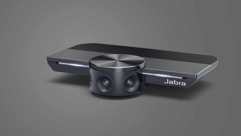 Jabra PanaCast smart 4K webcam provides a 180º field of view for a full picture conference