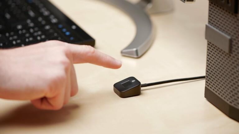 Kensington VeriMark Desktop Fingerprint Key has a Match-in-Sensor for encrypted security