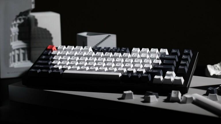 Keychron Q1 QMK custom mechanical keyboard features a fully customizable 75% layout
