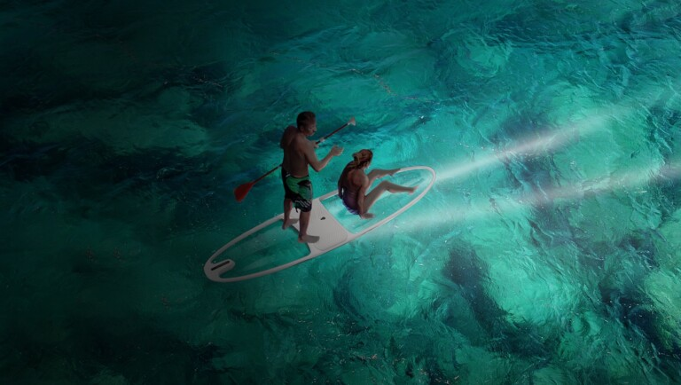 LOEVA Le Stand-Up transparent paddleboard lets you see the water beneath you