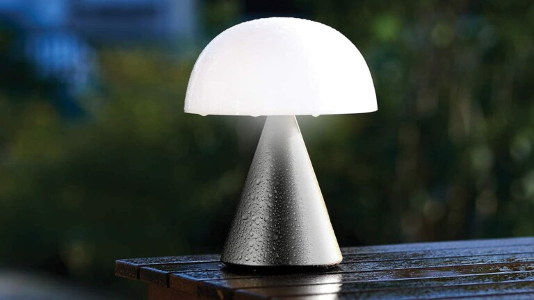 Lexon Mina L large portable LED lamp has a stunning size and 9 exciting LED colors