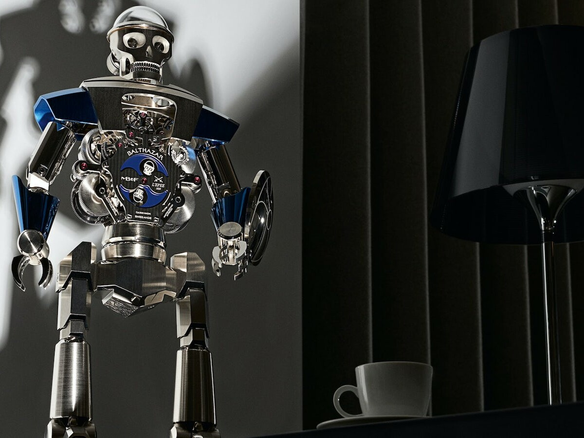 MB&F + L'Epée 1839 Balthazar robot clock includes 618 micro-engineered components