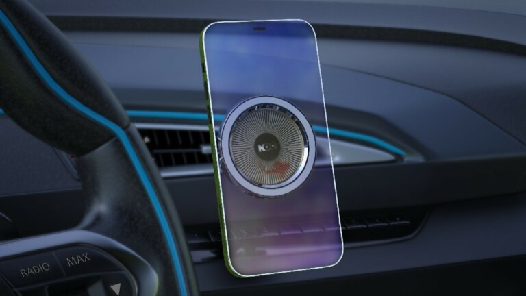 NUMBER ZERO 2.0 magnetic car vent phone mount holds your iPhone 12 securely in place