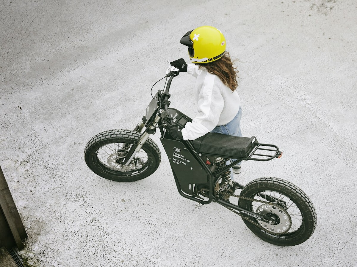 Offset Motorcycles OFR–M1 off-road electric bike has a motor with 25 KW peak power
