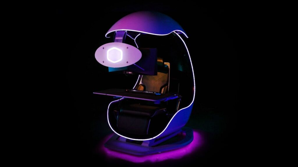 Losing your focus while gaming? Try this gaming work desk with a motorized shuttle dome