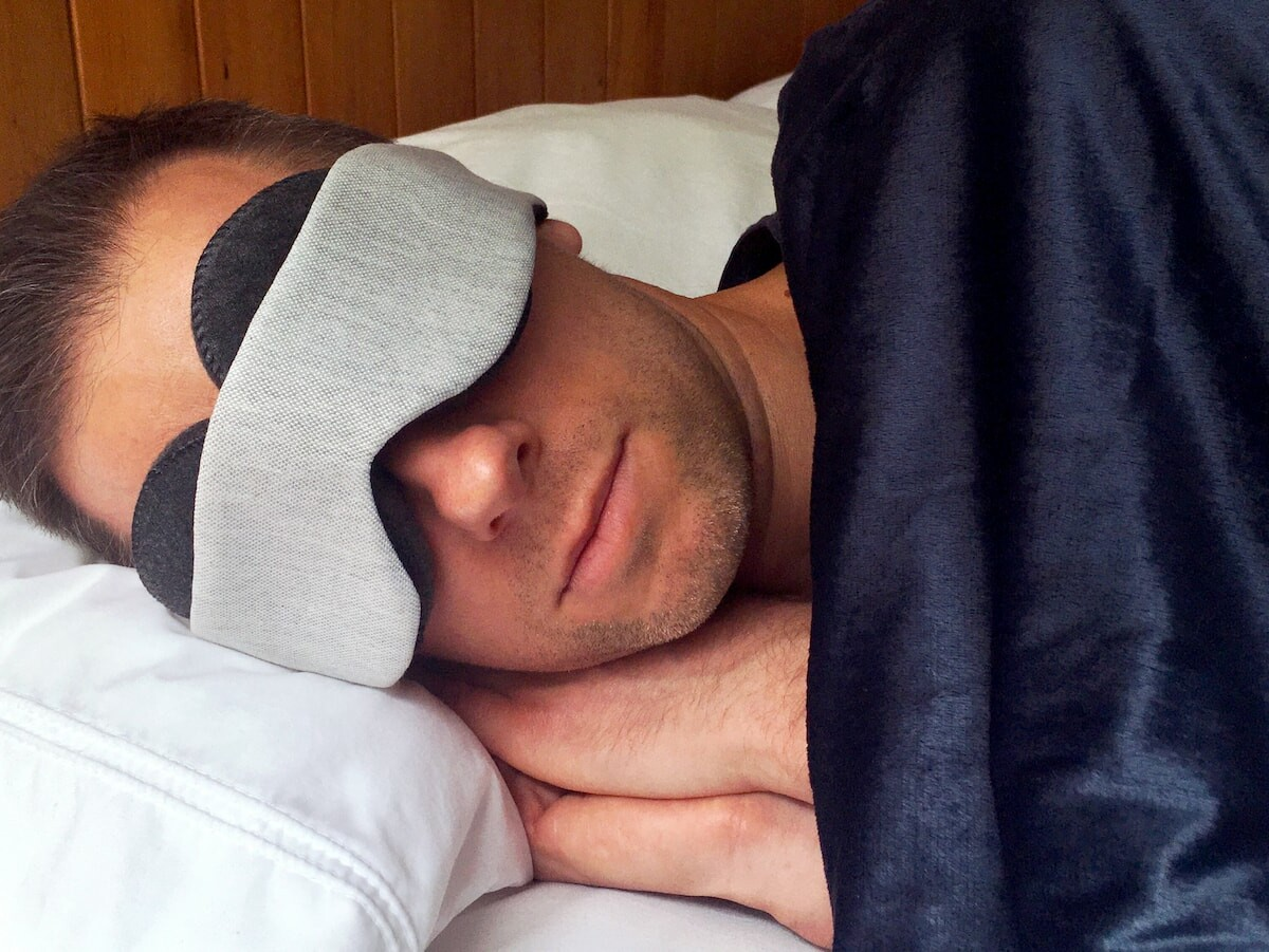 OwlzzZ Sleep Mask creates 100% blackout with deep eye covers that let you open your eyes