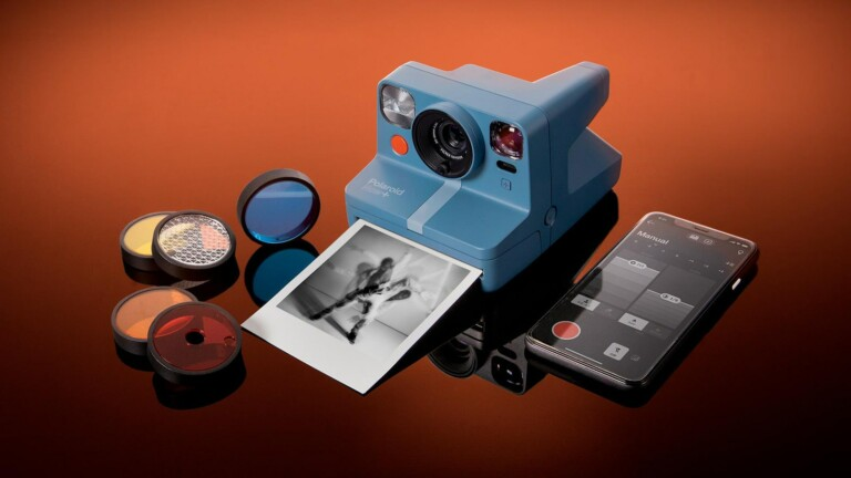 Polaroid Now+ i‑Type rechargeable instant camera includes 5 lens filters for every mood
