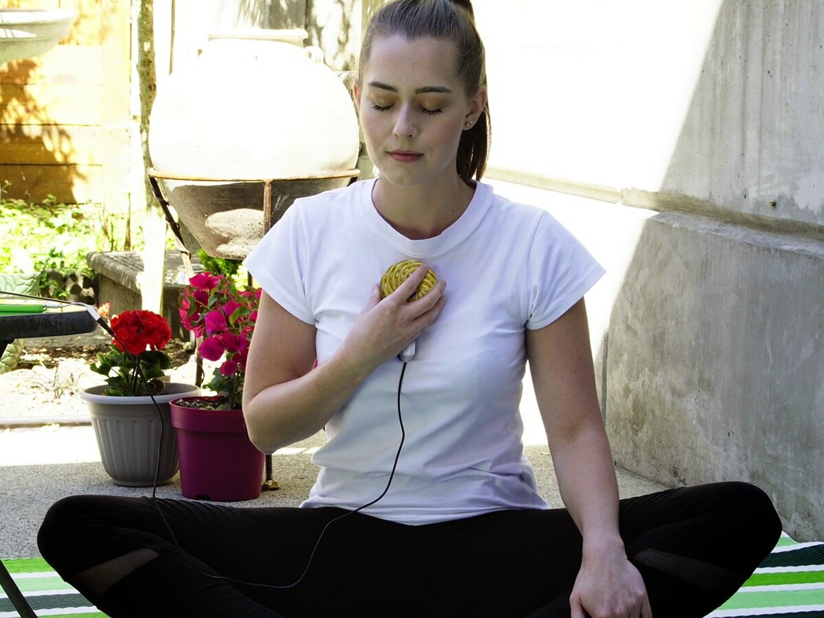 Qi Coil Mini PEMF therapy gadget makes mental health easy and reduces stress and anxiety