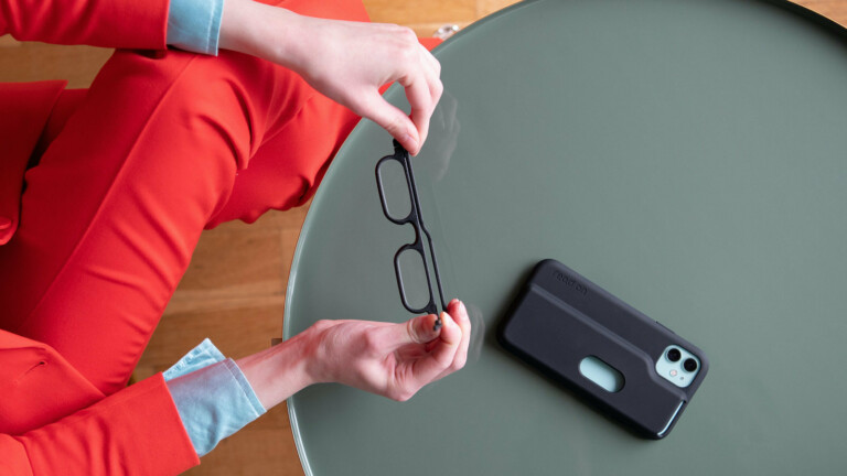 read on iPhone case and reading glasses integrate your reading glasses with a phone case
