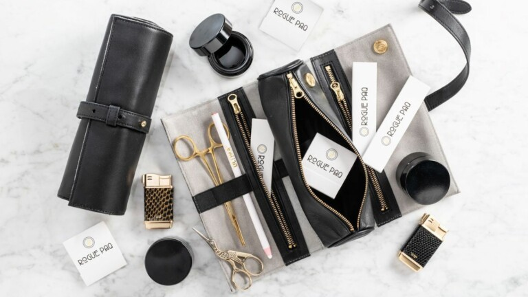 Rogue Paq full ritual gift set is scent-suppressant and made in lambskin or vegan leather