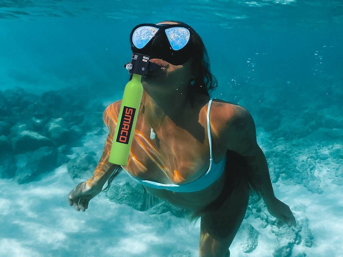 SMACO S400Pro Mini Scuba Diving Tank Set is easy for you to fill quickly by yourself