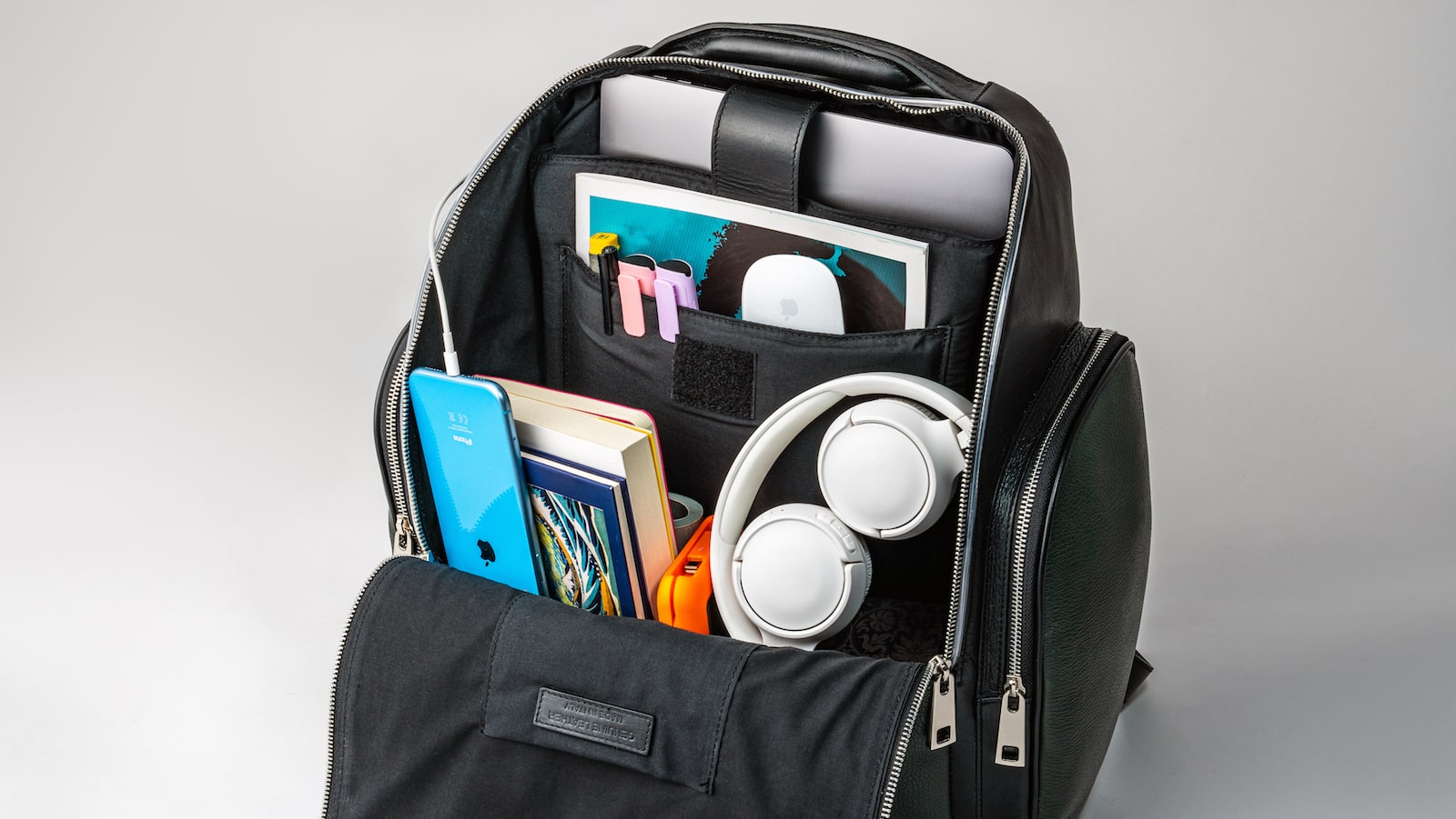 This high-tech backpack has anti-assault security, GPS tracking, and a power bank