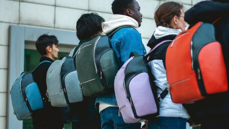This backpack has GPS tracking, assault security, and a power bank