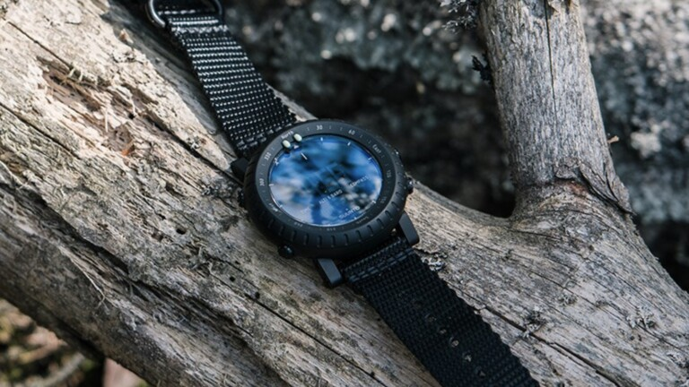 Suunto Core Alpha Stealth outdoor watch features an altimeter, a barometer, and a compass