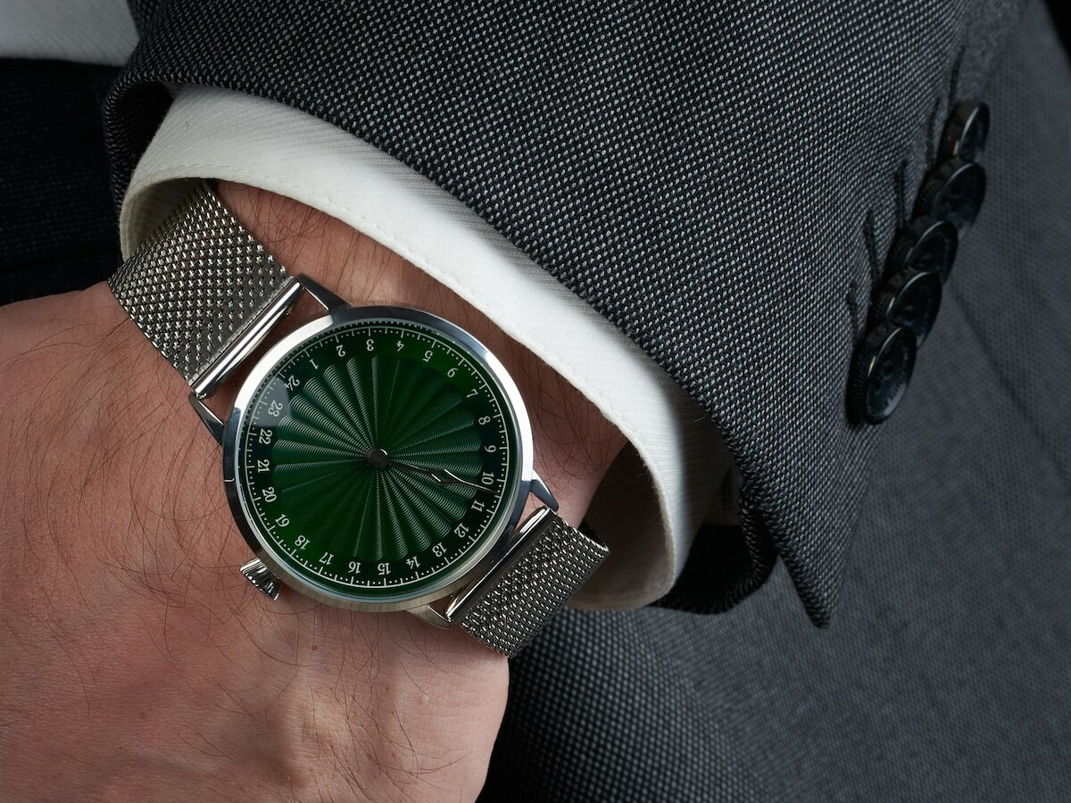 Svalbard Solfestuka 24-hour watch has an hour hand that makes a revolution in a day