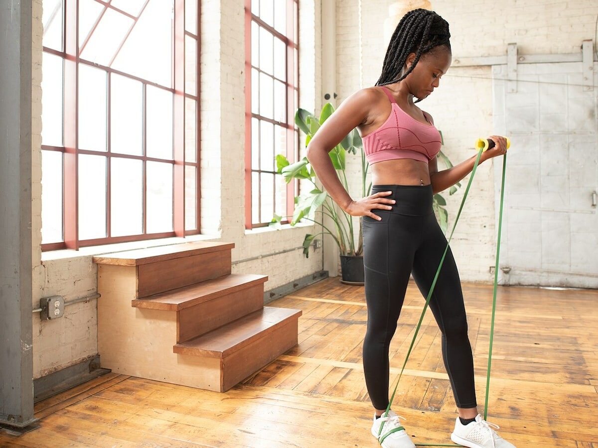 TRX BANDIT universal-fit handle attaches to more than 1 band for improved workouts