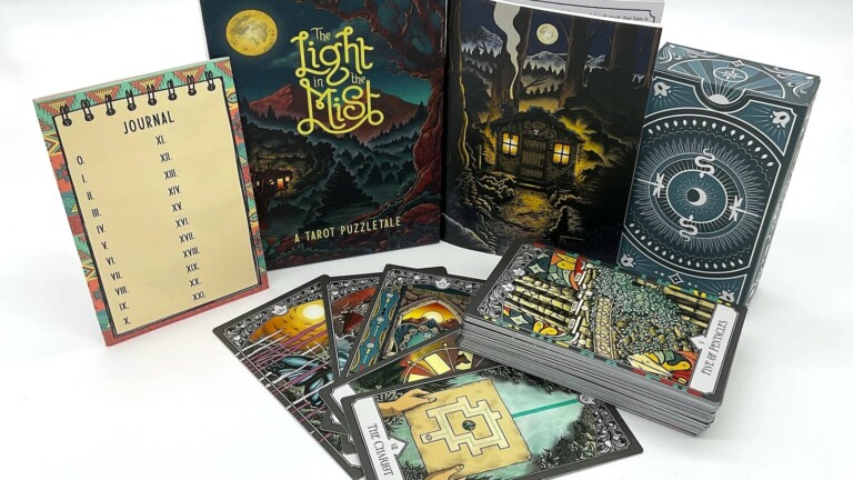The Light in the Mist tarot deck adventure game combines storytelling, artwork, & gameplay