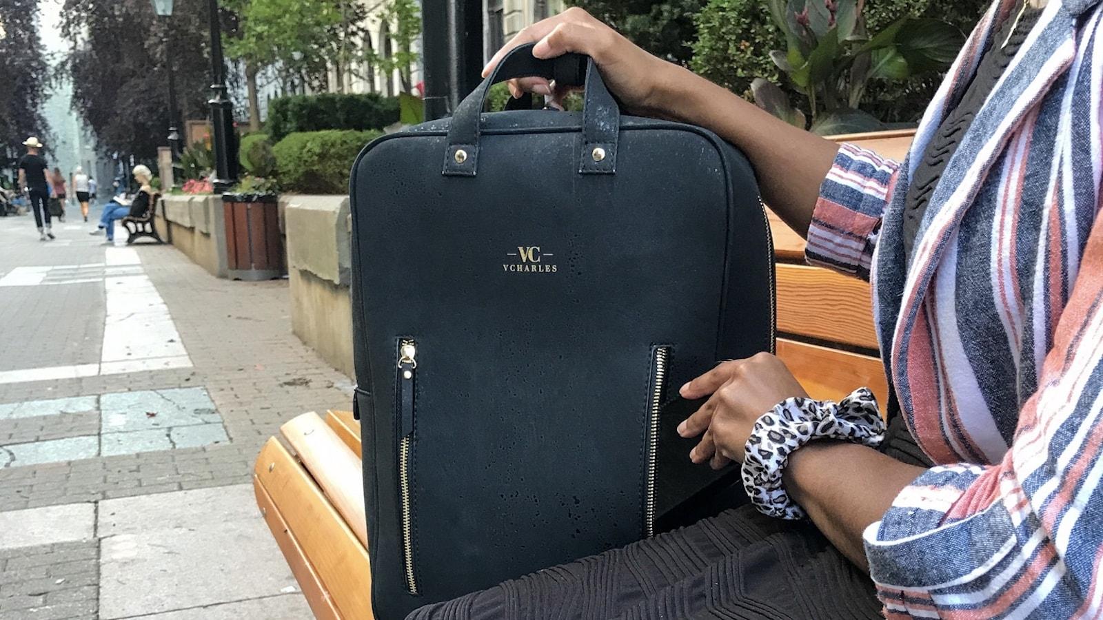 VCharles vegan cork bag has the versatility and organization that modern women need