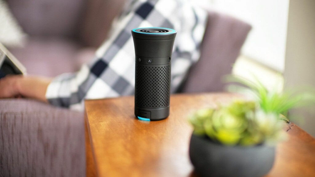 Tech gadgets gift guide under $300 drones, security cameras, and more Wynd Plus smart personal air purifier
