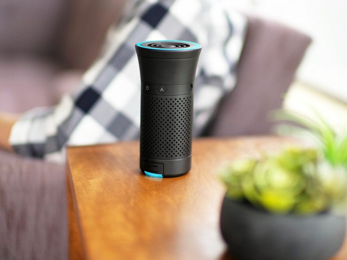 Wynd Plus smart personal air purifier removes germs, allergens, & more in a portable form