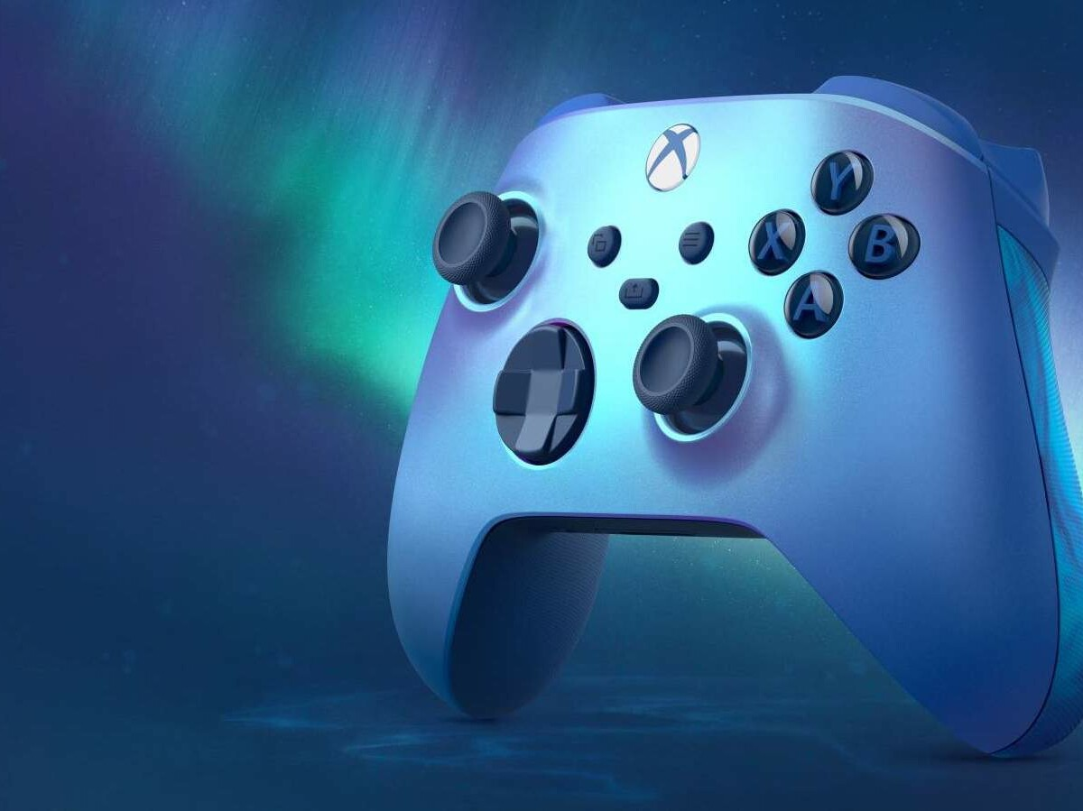 Xbox Wireless Controller Aqua Shift Special Edition has surreal blue swirl grips