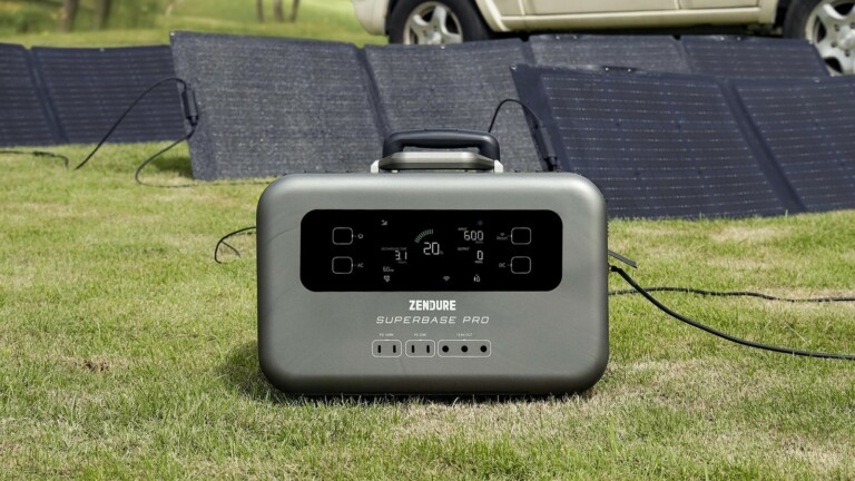 Zendure SuperBase Pro IoT power station recharges to 80% in only 1 hour via AC or solar