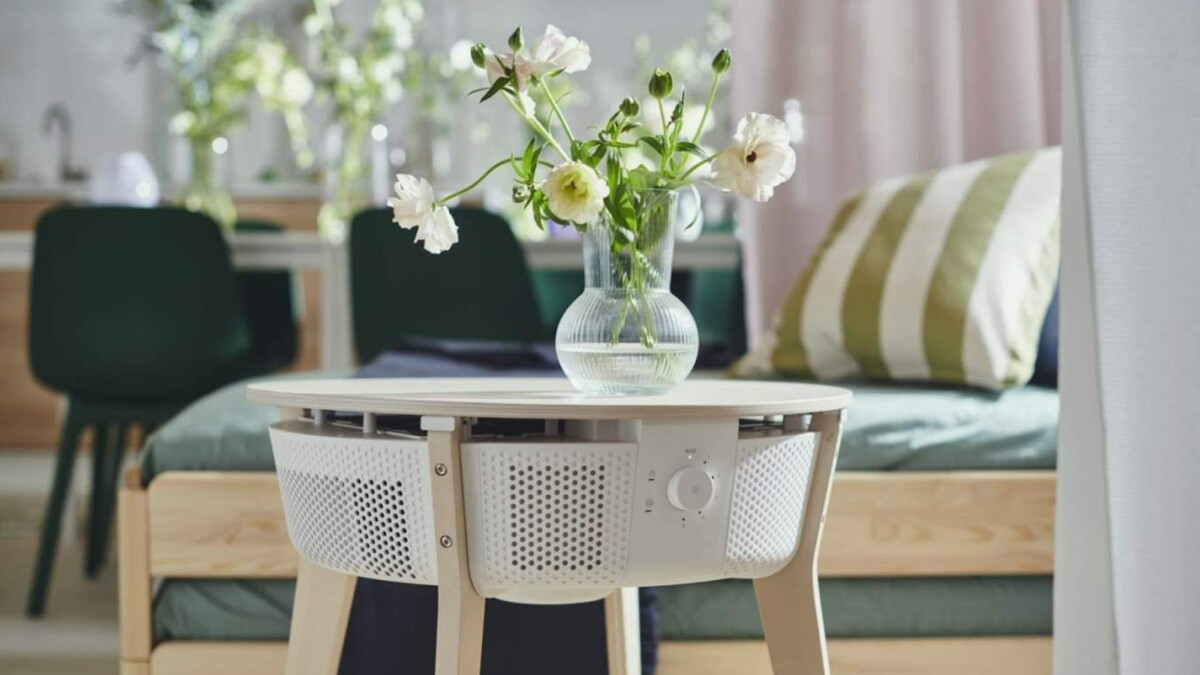 IKEA just made a smart air purifier that doubles as a side table