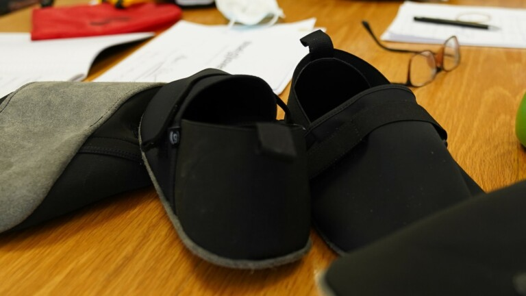 shoegloves sustainable shoe cover protects your floors from the dirt that shoes track in