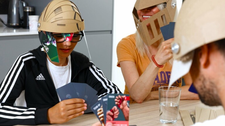 3COIL Design Smashing Helmets immersive card game uses recycled cardboard for helmets