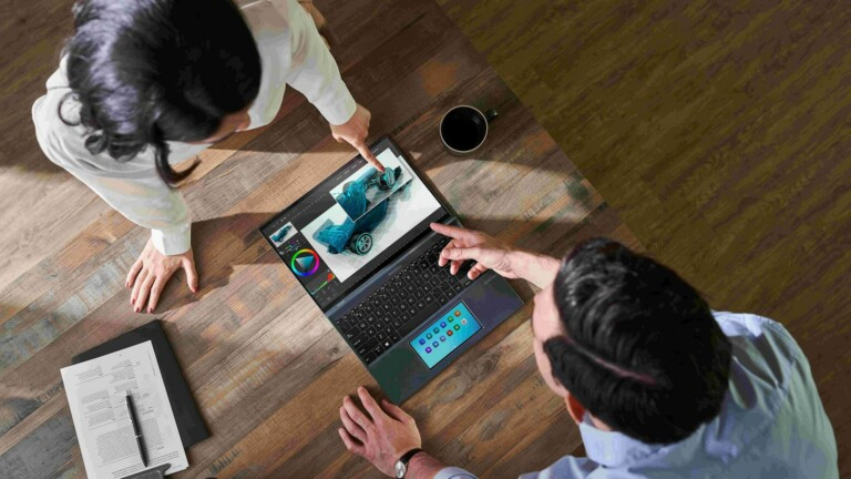 ASUS Zenbook 14X OLED lightweight laptop has a 16:10 HDR NanoEdge touchscreen