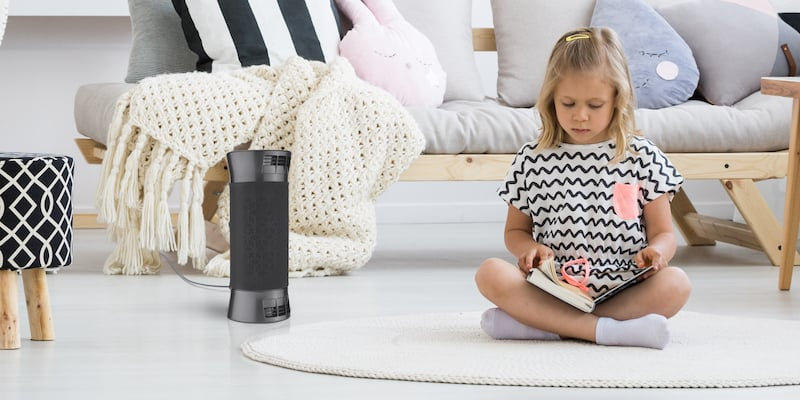 This portable air purification system breathes new life into your environment by going above and beyond