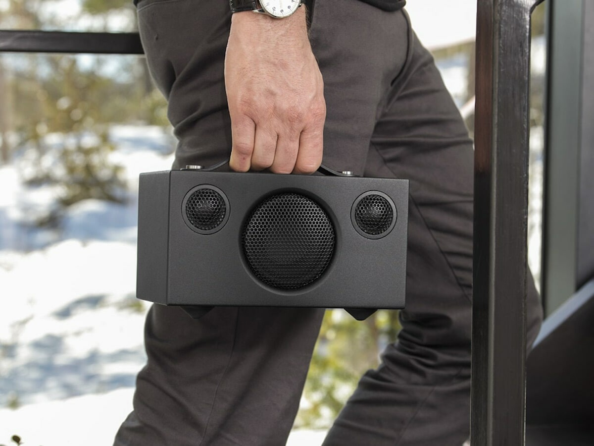 Audio Pro C3 wireless multiroom speaker includes 4 preset buttons & a 15-hour battery life