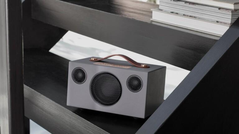 "Audio Pro C3 wireless multiroom <em class=""algolia-search-highlight"">speaker</em> includes 4 preset buttons & a 15-hour battery life"