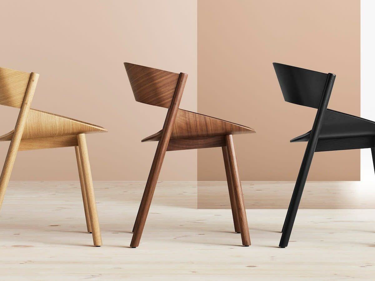 Blu Dot Port Dining Chair features a sculpted wood seat and graceful legs for comfort