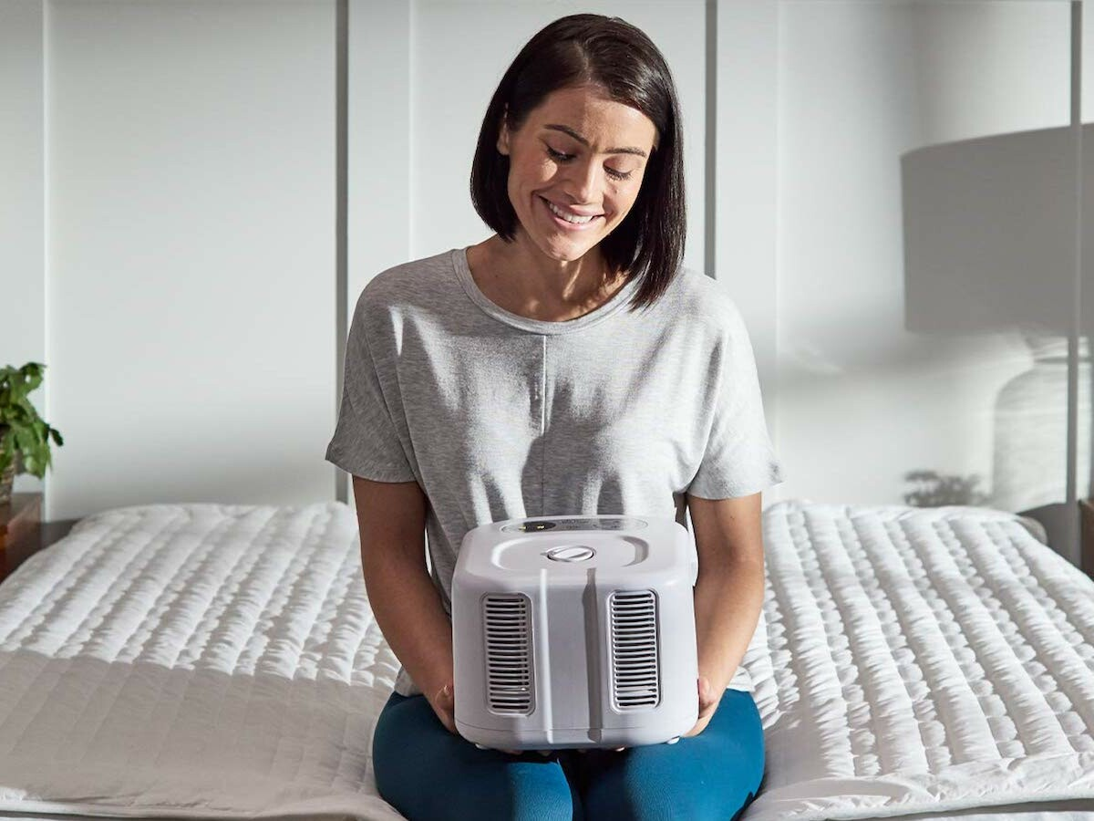 ChiliSleep Cube cooling sleep system regulates your bed to between 55° F & 115° F
