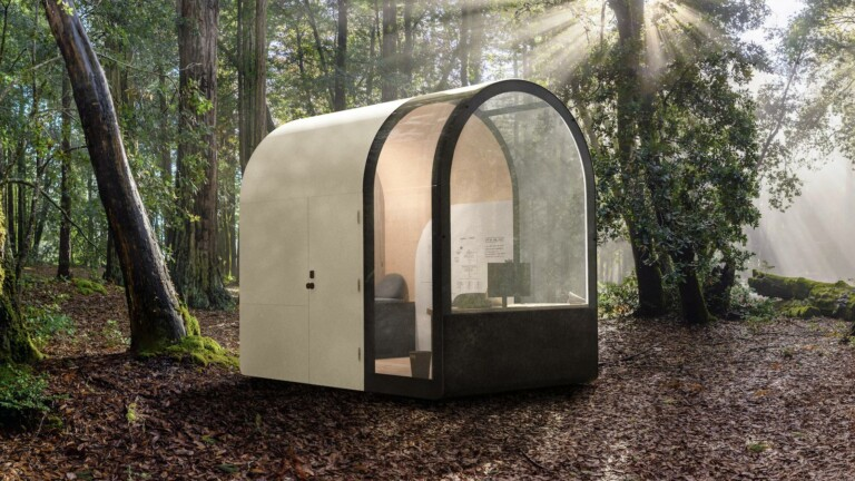 Denizen Archetype Smartpod remote office has 10-foot ceilings and a compact size