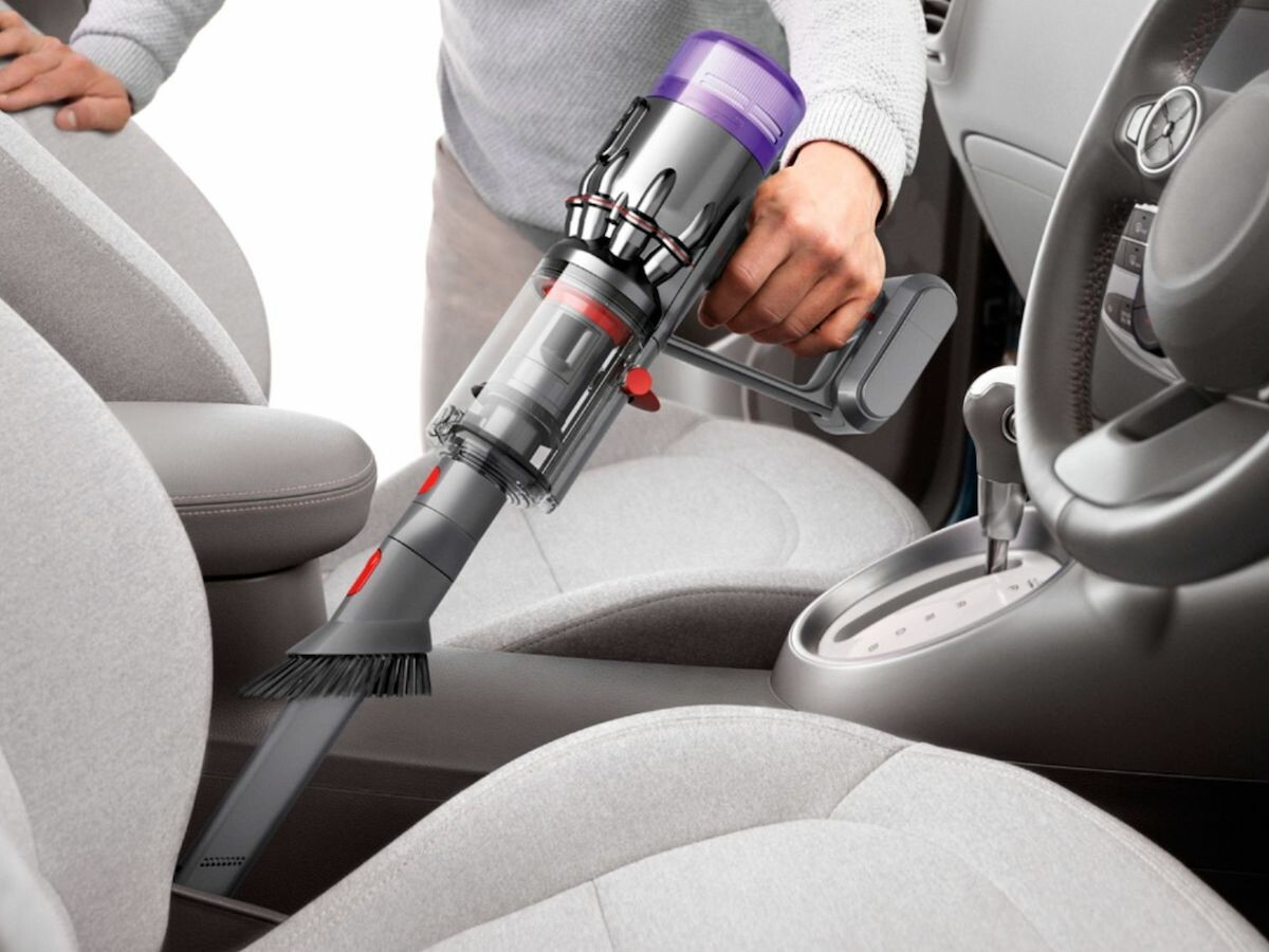 Dyson Humdinger handheld vacuum traps 99.99% of microscopic particles for cleaner air