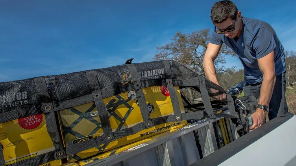 Sistema de sujeción de vehículos Gladiator Cargo Net