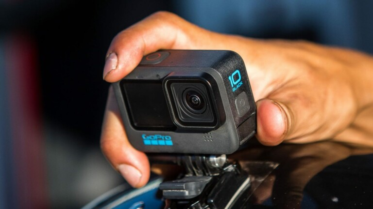GoPro HERO10 Black shoots 5.3K video with double the frame rate and has video stabilization