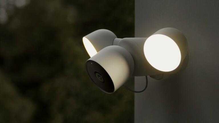 Google Nest Cam with floodlight replaces your existing floodlight with a wired connection