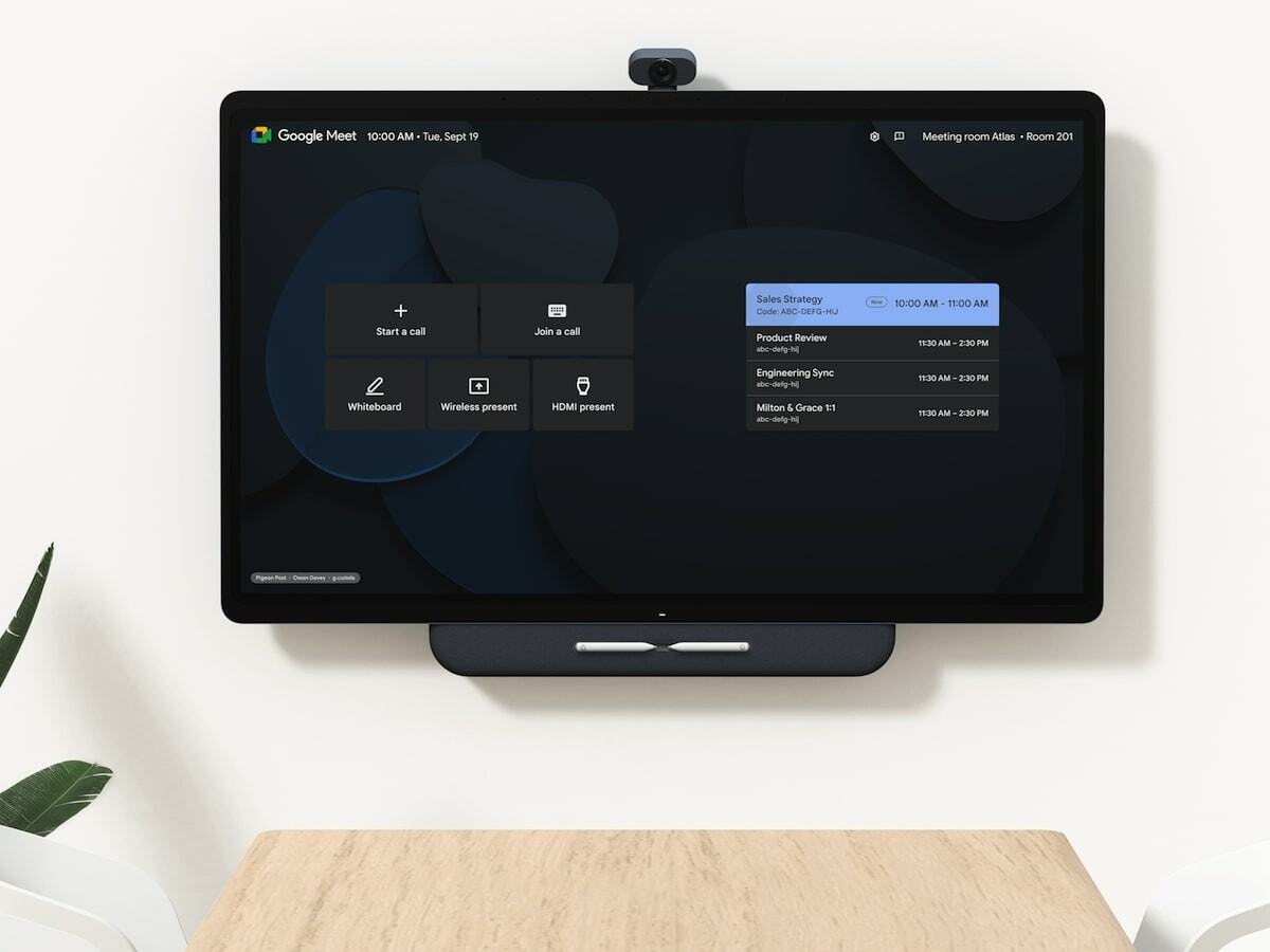 Google Series One Board 65 4K videoconferencing device connects remote employees thumbnail