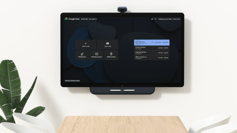 Google Series One Board 65 4K videoconferencing device connects remote employees