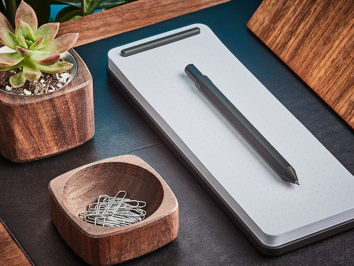 Grovemade Refillable Metal Notepad includes 70 sheets of paper and is refillable for life