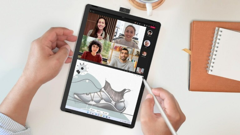 HP 11 Inch Tablet PC features a rotatable 13 MP front camera and is made for productivity