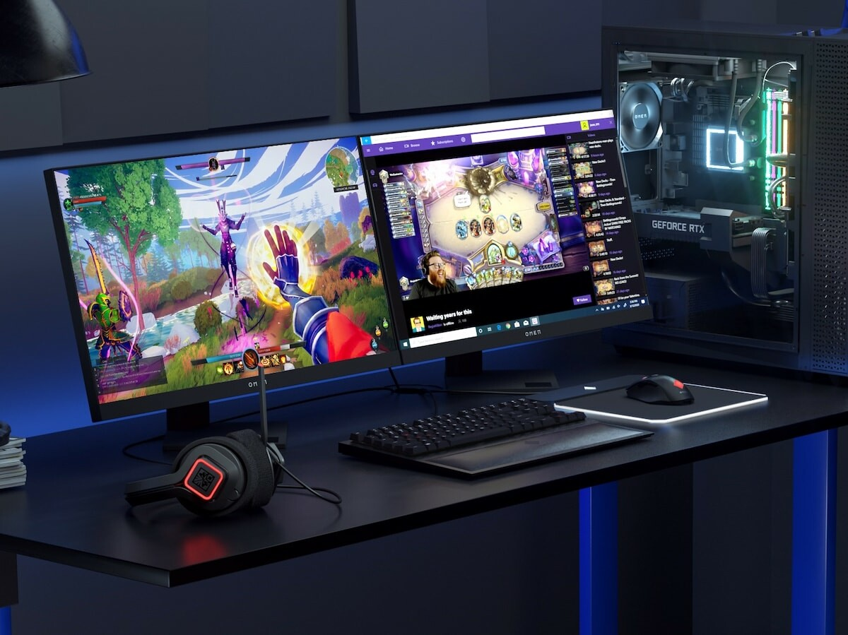 HP OMEN 25i gaming monitor boasts a 165 Hz refresh rate and a 1 ms response for accuracy